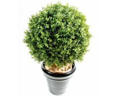 Plante artificielle haute gamme Spécial extérieur / Buis boule artificiel - Dim : H.120 x D.100 cm - Plantes artificielles