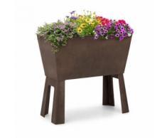 Blumfeldt Mammutgrow Flex Carré Potager surélevé pour culture dŽherbes et fleurs - protection anti UV et gel - marron - Jardinières et bacs
