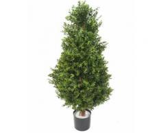 Plante artificielle haute gamme Spécial extérieur / Buis topiaire UV Artificiel - Dim : 155 x 60 cm - Plantes artificielles