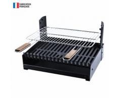 Somagic - Barbecue au charbon de bois réglable en 3 hauteurs GRILLOIR - grilloir à poser - Cuisiner en extérieur