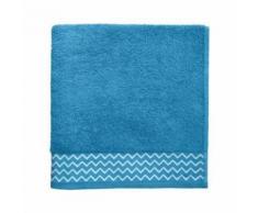 santens serviette de toilette 100 % coton pat - 50 x 100 cm - bleu turquoise - Linge de bain