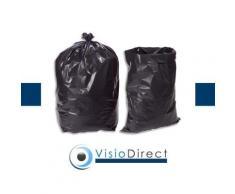 Boîte de 100 sacs-poubelle, 130 litres, noir, très résistant, 75 microns - Corbeille, bac à courrier, poubelle