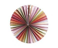 Lampion plat en papier - multicolore - Article de fête