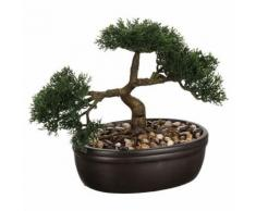Bonsai artificiel en pot - H. 23 cm - Objet à poser