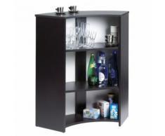 Meuble Comptoir Bar Noir Imprimé Drapeau anglais - Tables bar