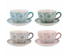 Lot de tasses Quid Vita Porcelaine 0,3L (4 pcs) - Tasse et Mugs