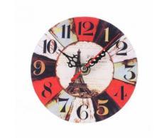 Vintage Style Antique Bois Horloge Murale Pour La Maison Cuisine Bureau Multicolore PL178 - Décoration murale