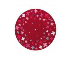 Tapis de chambre - Bloom field - rouge 100x100 cm en Acrylique - Tapis enfant