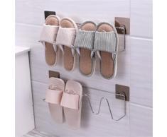 Pantoufle de stockage Organisateur Support mural pour rack Chaussures Chambre Salle de bain Kiliaadk597 - Boite de rangement