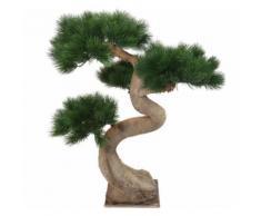 Plante artificielle haute gamme Spécial extérieur / PIN artificiel BONSAI - Dim : 92 x 65 cm -PEGANE- - Plantes artificielles