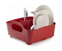 Umbra - Egouttoir à vaisselle avec poignées de transport Rouge - Accessoire de cuisine