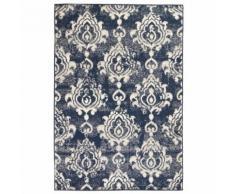 vidaXL Tapis moderne Design de cachemire 120 x 170 cm Beige / Bleu - Tapis et paillasson