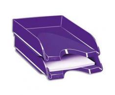 Lot de 3 Corbeilles à courrier Gloss pour format 24 x 32 - Dimensions L25,7 x H6,6 x P34,8 cm, Violet - Corbeille, bac à courrier, poubelle