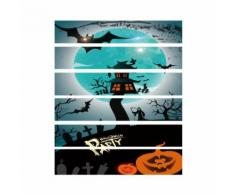 Halloween 3D Sticker Corbeau Tombstone Escalier Autocollant Imperméable Mur Autocollant JJZS036 - Décoration murale