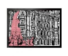 Art Urbain Paillasson Essuie-Pieds - Architecture De Francfort, Marcus Merget (50x70 cm) - Tapis et paillasson
