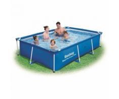 Piscine rectangulaire deluxe splash frame - 259 x 170 x 61 cm - Bleu - Piscine