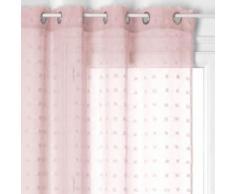 Voilage à illets 140x240 cm Lily rose - Rideaux et stores