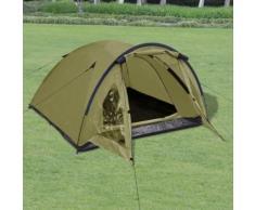 Meelady Tente de Camping Pliante pour 3 Personnes Vert d'Armée - Matériels de camping et randonnée