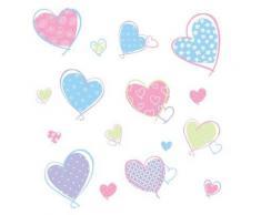 Roommates rmk1434scs stickers muraux en forme de coeurs - Rideaux enfant