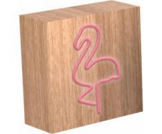 Lampe-enceinte sans fil ColorLight Néon Flamingo taille S Colorblock - Enceinte sans fil