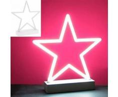 Lesser & Pavey Lampe néon Motif étoile Blanc - Lampes