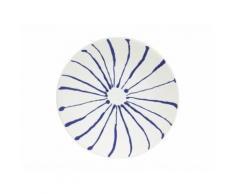 Assiette à dessert en grès D20cm bleu - Lot de 6 INK - vaisselle
