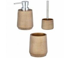 Set d'accessoires de salle de bain design Ohrid - Doré - Accessoires de bain