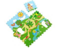 Chicco puzzle de sol château junior 93 cm mousse gris 12 pièces - Jeux d'éveil