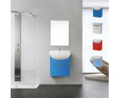 Déco pour la salle de bain Complet de Meuble Évier et Miroir en Céramique et Acier Inox, Couleur: Bleu - Baignoires