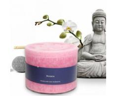 Bien-Être Bougie Parfumée - Roses, Rosé (10x13 cm) - Bougeoir, bougie et senteur
