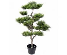 Plante artificielle haute gamme Spécial extérieur / PIN artificiel BONSAI - Dim : 95 x 60 cm -PEGANE- - Plantes artificielles