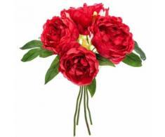 bouquet fleur artificielle 4 pivoine prune 30cm - Plantes artificielles