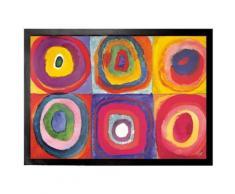 Vassily Kandinsky Paillasson Essuie-Pieds - Étude De Couleurs, Carrés Et Ronds Concentriques, 1913 (70x50 cm) - Tapis et paillasson