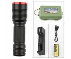 LED Glare P50 Xenon Lampe de poche extérieure équitation lampe de poche rechargeable Glare Kiliaadk434 - Torches