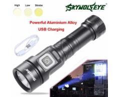LED L2 5 Modes USB extérieur portable lampe torche Super Bright Pour 26650 Kiliaadk123 - Torches