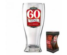 verre a biere anniversaire 60aine - Article de fête