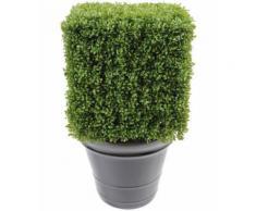 Plante artificielle haute gamme Spécial extérieur / Buis carré artificiel - Dim : 50 x 33 x 33 cm - Plantes artificielles