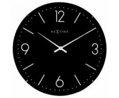 NeXtime NE-3157ZW Horloge murale Dia. 35 cm, globe terrestre, noir, 'Basic Dome' - Décoration murale