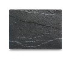 Zeller 26257 planche à découper en verre motif ardoise anthracite - Ustensile de cuisine