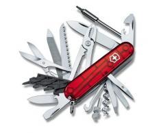 Couteau Suisse de Poche - Victorinox Cyber Tool 41 Pieces - 1.7775.T - Rouge Transparent - Couteau