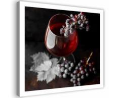 Image Tableau sur toile murale Canevas Verre de vin Raisins 2 60x60 - Décoration murale
