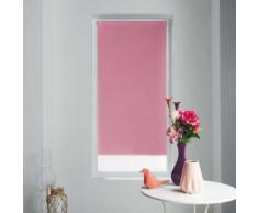 Store enrouleur occultant 60 x 90 cm polyester occult Rose - Rideaux et stores