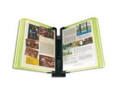 Pupitre Mural Flashy Black Line vert 10 poches A4 - Dimensions L48 x H37 x P22 cm - Autres accessoires de bureau