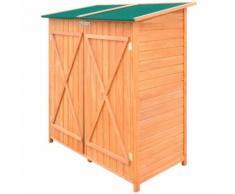 vidaXL Abri de jardin de stockage d'outils de jardin Bois - Mobilier de Jardin