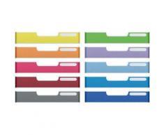 Set de 10 frontons 54mm A4 colorés Color Coding : 10 frontons (1 par couleur) - Corbeille, bac à courrier, poubelle