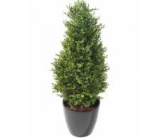 Plante artificielle haute gamme Spécial extérieur / Buis topiaire UV Artificiel - Dim : 125 x 60 cm - Plantes artificielles