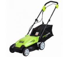 Greenworks Tondeuse à gazon électrique GLM1035 230 V 35 cm 2505107 - Outillage de jardin motorisé