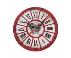 Vintage Style Antique Bois Horloge Murale Pour La Maison Cuisine Bureau Multicolore PL184 - Décoration murale