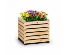 Blumfeldt Modu Grow 50 Carré potager surélevé 112 litres , 50 x 50 x 45 cm , bois de pin massif - Jardinières et bacs