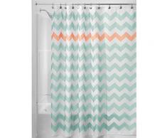 Interdesign 43025eu chevron rideau de douche polyester aruba/corail 183 x 183 cm - Rideaux enfant